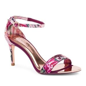 NWT Ted Baker Mylli Sandals Serenity Fliral Satin